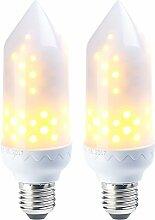 Luminea 2er-Pack LED-Flammen-Lampe mit