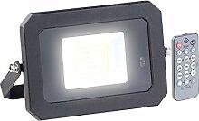 Luminea Außen-Leuchte: Wetterfester LED-Fluter, Radar-Bewegungssensor, Fernbedienung, 20 W (Lampen Radar-Bewegungsmelder)