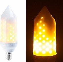 Luminea Flackerlampe: LED-Flammen-Lampe mit