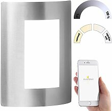 Luminea Home Control Außenwandleuchte LED: