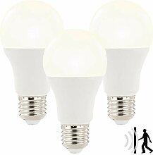 Luminea LED Bewegungsmelder: 3x LED-Lampe mit
