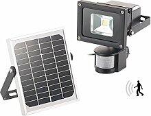 Luminea Solar Flutlicht: COB-LED-Solar