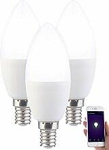 Luminea WLAN Birne: 3er-Set WLAN-LED-Lampe, für