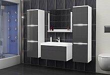 Luna Badmöbelset Badmöbel Badset mit Waschbecken und LED A22
