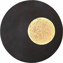 Luna Eisen Wandleuchte in Schwarz Braun Gold