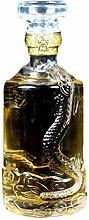LUNA VOW 500 ML Leere transparente Glasflasche