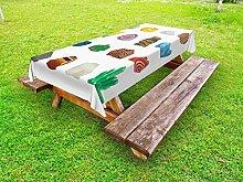 Lunarable Geode Outdoor-Tischdecke, buntes