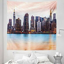 Lunarable New York Wandteppich Queen Size,