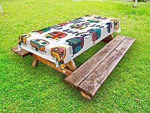 Lunarable Outdoor-Tischdecke mit inspirierendem