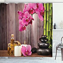 Lunarable Spa Duschvorhang, Spa Orchideen Blumen