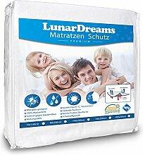 LunarDreams Kinder Matratzenschoner 70x140 Inkontinenzauflage - Wasserdicht – Allergiker geeignet - Schützt gegen Nässe, Milben, Bakterien und Allergene (70x140 cm)