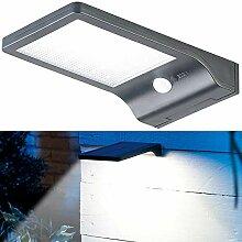 Lunartec LED-Solar-Wandlampe: