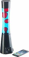 Lunartec Licht: Lavalampe rot/blau mit