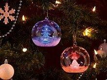 Lunartec Mundgeblasene LED Glas Ornamente in