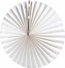 Lunartec Papierlampe: Papierleuchte Rad - Weiß