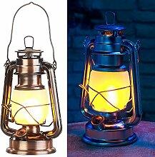 Lunartec Petroleumlampe: LED-Sturmlaterne mit