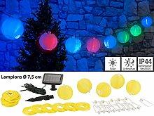 Lunartec Solar-LED-Gartendeko: Solar-LED-Lichterkette m. 20 Mini-Lampions, 3,8 m, IP44 (Lichterkette mit Solar-Betrieb)