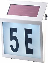 Lunartec Solar-LED-Hausnummernleuchte mit