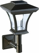 Lunartec Solar Wandlampe: Solar-LED-Wandleuchte