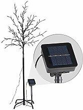 Lunartec Solarbaum Garten: Solar-LED-Lichterbaum