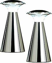Lunartec Tischlampe: Edelstahl LED-Tischleuchte,