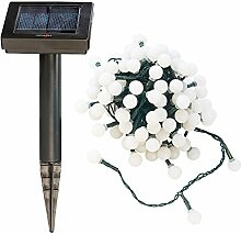 Lunartec Warmlichterkette: Solar-LED-Lichterkette mit 102 weißen LEDs, 10 m, IP44 (Solar-LED-Lichterkette Außen)