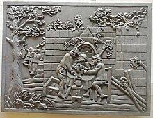 Lunaway Kaminplatte Ofenplatte für Kamin aus