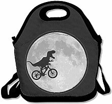 Lunch Bag Dinosaur Bike Moon Lunch Tote Lunch Box