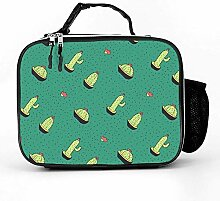 Lunch bag Litchi Leather Lunch Boxes cactus flower