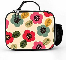 Lunch bag Litchi Leather Lunch Boxes Colorful