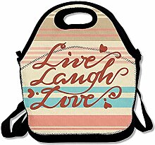 Lunch Bag Live-Lachen-Liebes-Rotes