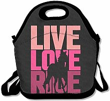 Lunch Bag Live Love Ride Horse Lunch Tote Lunch