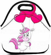 Lunch Bag,Luftballon Einhorn Brotdose Tragbare