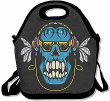 Lunch Bag Lunch Tote Flower Crown Alien Lunch Box