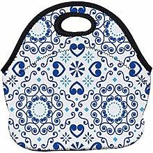 Lunch Bag,Portugiesische Oder Spanische Fliese