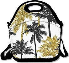 Lunch Bag Tote Boxes Bags Lunch Box Black And Gold