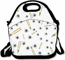 Lunch Bag Tote Boxes Bags Lunch Box Bullets Picnic