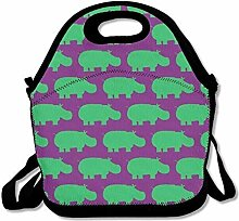 Lunch Bag Tote Boxes Bags Lunch Box Hippo Handbag