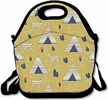 Lunch Bag Tote Boxes Bags Lunch Box Llamas Tote