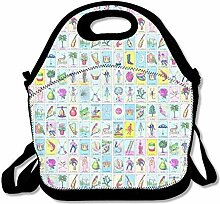 Lunch Bag Tote Boxes Bags Lunch Box Loteria Tote