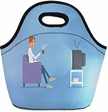 Lunch Bag Tote Boxes Bags Lunch Box White Man