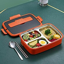 Lunch Box, 3-Fach Edelstahl Bento Box Leakproof