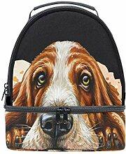 Lunch Box Bag Hund isoliert Double Decker Cooler