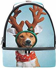 Lunch Box Bag lustige Weihnachten Hirsch Kostüm