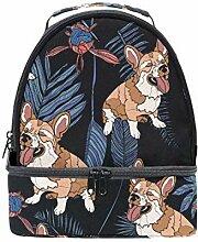 Lunch Box Bag Netter Corgi Hund isoliert Double