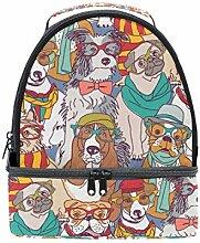 Lunch Box Bag Netter Hund isoliert Double Decker