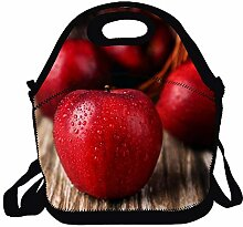 Lunch Box Waterproof Tote Bento Bag Apple with
