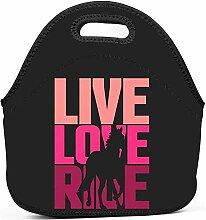 Lunch Boxen,Live Love Ride Horse Lunch Tasche