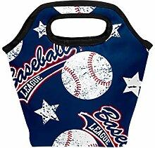 Lunch-Tasche, Baseball, Sport, Ball, Sterne,