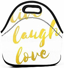 Lunch Tasche Live Laugh Love Gedruckt Männer